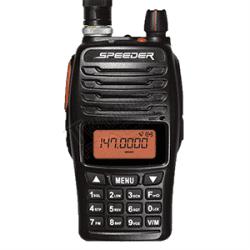 วิทยุสื่อสาร SPEEDER SP-IP4 Plus ด้านหน้าใส่เสาพร้อมแบตเตอรี่