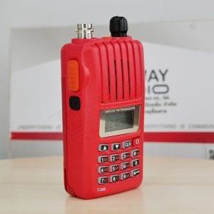 ด้านซ้าย วิทยุสื่อสาร i-TALK T-245 มีปุ่มกด PTT